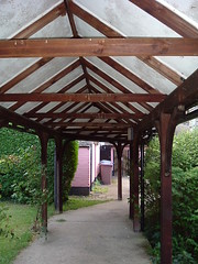 covered walkway (whichwould) Tags: clarepriory