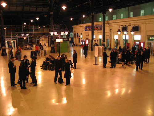Train Chartering - film location services - Brighton Station concourse, with extras