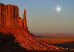 MONUMENT VALLEY (Aspenbreeze) Tags: moon southwest night landscape geotagged evening desert valley monumentvalley monumnet rockformations southwestern photographydigitalart yourwonderland magicunicornverybest coth5 magicunicornmasterpiece aspenbreeze