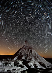 Bardenas Reales-Navarra-Spain (dnieper) Tags: españa stars spain estrellas nocturna polar navarra bardenas arguedas bardenasreales castildetierra