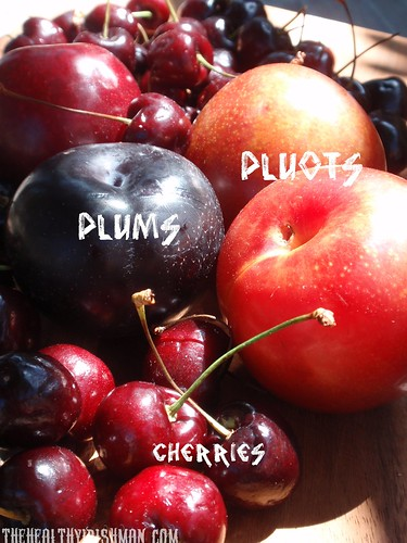 Fresh Cherries and Plums