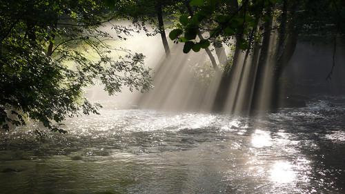 フリー画像| 自然風景| 森林/山林| 河川の風景| 太陽光線| フランス風景|      フリー素材|