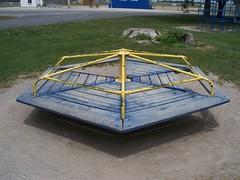 OH Middle Point - Playground (scottamus) Tags: old ohio playground vintage furniture equipment merrygoround middlepoint vanwertcounty