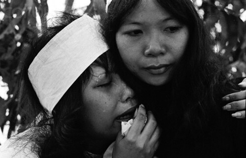 Mourners at Bien Hoa Cemetery