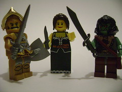 Castle figs+Brickarms = :3 (tehwacklaygoez) Tags: lego fig brother zombie sig