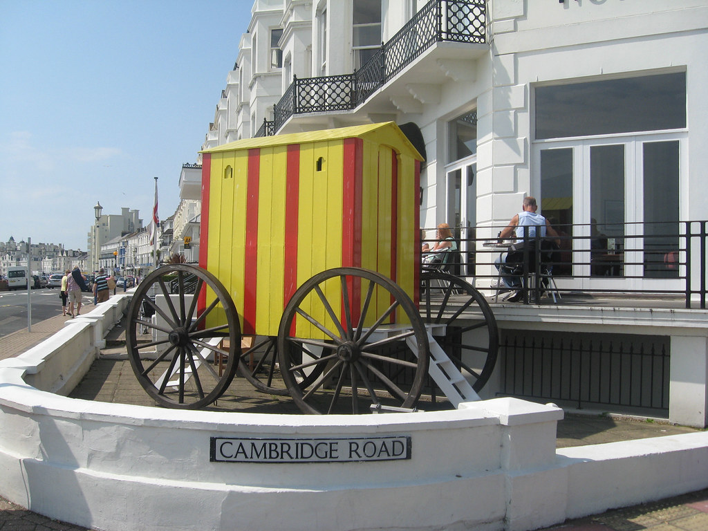 Bathing machine in Eastbourne - side view