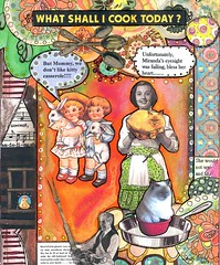 What Shall I Cook Today? (BlueRidgeLady) Tags: art cooking collage cat children mixedmedia week48 crowabout