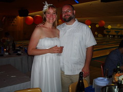 Chris and Christine, newlyweds