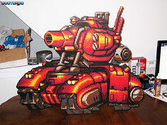 Metal Slug Big Red Tank Bead Sprite (Doctor Octoroc) Tags: red metal big tank sprite bead slug hama perler beadsprites