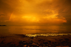 Yellow (~EvidencE~) Tags: wild sky orange toronto ontario storm beauty yellow clouds scary rainbow nikon spit leslie evidence destructive funnel deadly severe thunderstorms sighted d300 tornadoes location~lesliespit august202009
