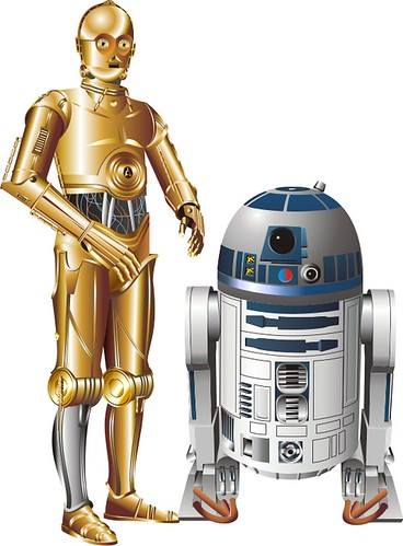 C3P0 and R2D2 by kennetzel, via Flickr | Star Wars Quiet Book ...