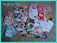 Swap and Penpal Letter received from Ally_[Star] (Dreaming Magpie) Tags: hello cute home apple pen notebook spiral toys milk duck ally sticker key doll panda hand candy sweet handmade sleep air eraser kitty flake charm sanrio stamp clip made homemade cupcake cap clay gift swap bow kawaii sheet sack pal flakes package goodies grape received trinkets penpal rilakkuma freshener aleth sented parthen allystar