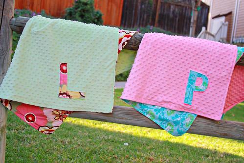 Minky Initial Blankets