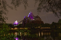 Animal Kingdom - Expedition Everest EMH (Cory Disbrow) Tags: longexposure travel vacation photoshop canon orlando lab asia florida magic disney nighttime rollercoaster fl wdw waltdisneyworld 2009 canonef2470mmf28lusm animalkingdom disneysanimalkingdom waltdisney eticket expeditioneverest cs4 lakebuenavista baylake reedycreek waltdisneyworldresort emh sevenseaslagoon extramagichours forbiddenmountain disneyafterdark canoneos5dmarkii worlddrive 5stardisneyaward corydisbrow