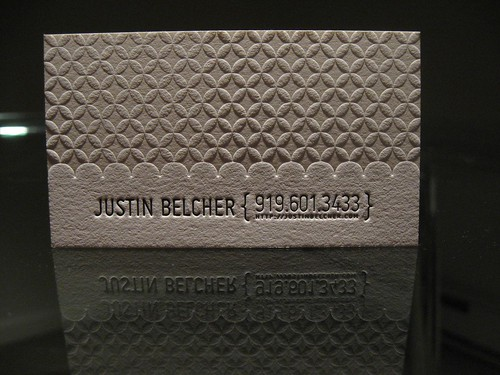 Justin Belcher Business Card