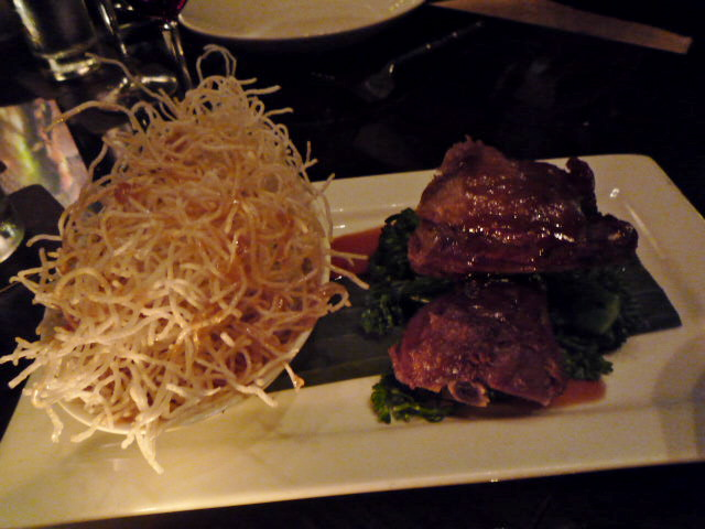 Tamarind glazed duck