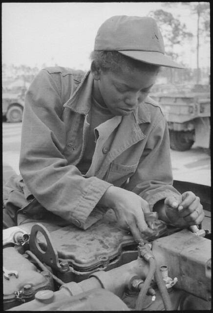 Fort Stewart Georgia Female Auto Mechanic by The US National Archives