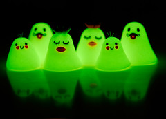 Ghosts of JooJoo Land ({JooJoo}) Tags: cute halloween ghost spooky polymerclay etsy joojoo afsanehtajvidi glowinthedarkclay