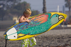 Surfer Kid With First Surfboard 1636 (casch52) Tags: ocean california county new boy beach water sport canon photo kid san surf action surfer wave diego parrot photograph oceanside surfboard 50d explorer305 familygetty
