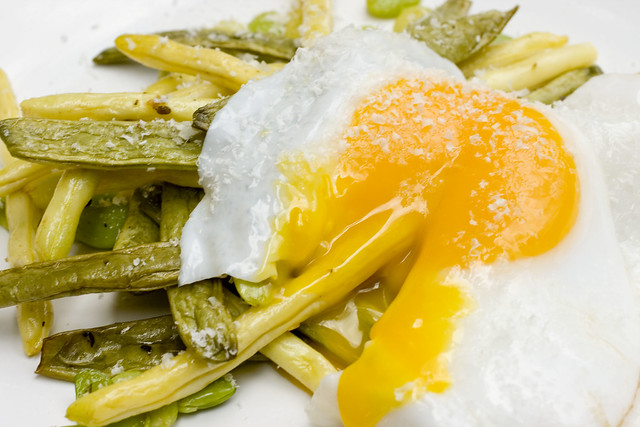 Green Market Beans with Runny Duck Egg 4
