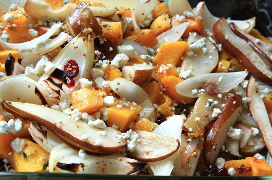 Butternut Squash, Pears & Onion w/ Blue Cheese