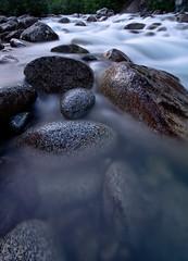 Haze of Love (code poet) Tags: longexposure water alaska river landscape 350d rocks boulders 1022mm hatcherpass littlesusitna littlesu