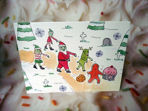 Zombie Santa Holiday Card