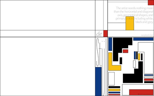 to the �de Stijl� movement