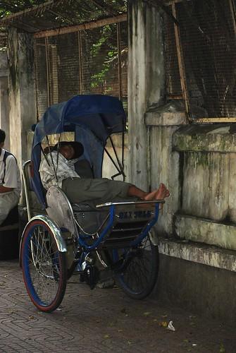 Sleeping Cyclo Driver