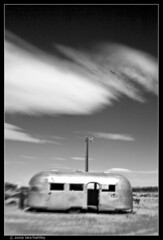bagdad cafe trailer airstream (_RedShoesGirl_) Tags: lensbaby blackwhite route66 airstream bagdadcafe newberrysprings motherroad rte66 bagdadcafetrailer