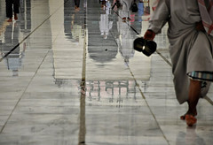 End of Prayer (fahim_123752) Tags: reflection wet rain floor muslim prayer religion mosque dhaka bangladesh allah wetfloor panjabi lungi sandel siked baitulmukarram wetmosque