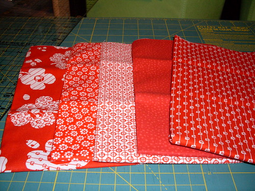 Red fat quarters