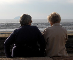 8038 The quiet life (crabchick) Tags: life beach seaside women couple quiet peaceful shore relaxation westonsupermare steepholm