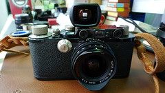 Leica III BLACK PAINT with Voigtlander Super-Wide-Heliar 15mm f/4.5 ASPH (RangefinderNotDead) Tags: leica iii voigtlander f45 15mm asph superwideheliar blackpaint