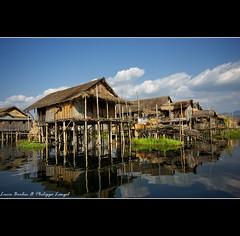 Inle lake village - Myanmar (Lucie et Philippe) Tags: burma myanmar birmanie