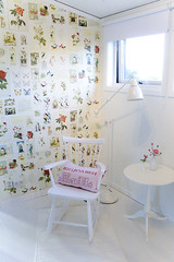 Cozy corner (Craft & Creativity) Tags: roses wallpaper white house ikea home window lamp studio table design chair rooms sweden interior room decoration carl pip rocking lilla land malmsten