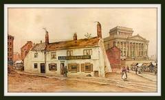Lea's Virgins Inn, Preston (Preston Digital Archive) Tags: old england vintage painting artwork map lancashire ephemera engraving preston guild beattie lithograph lancs ebeattiepreston