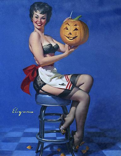 elvgren halloween pinup