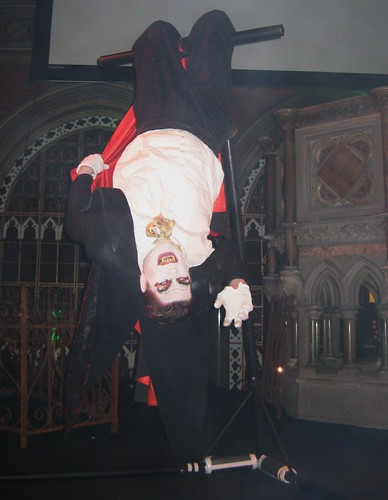 Dracula hanging out on stage