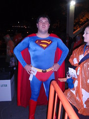 Super-football fan-man
