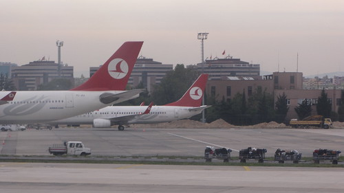 Turkish Airlines at the airport