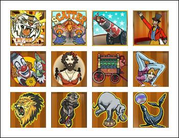 free 5 Reel Circus slot game symbols