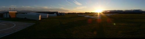 Beautiful sunset at Dannevirke to end a successful flying day