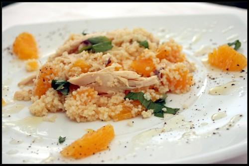 4114308965 57ca153a7f Salade de semoule, oranges et restes de poulet   Bouillon de poulet maison  Risotto aux poireaux, tuiles de parmesan
