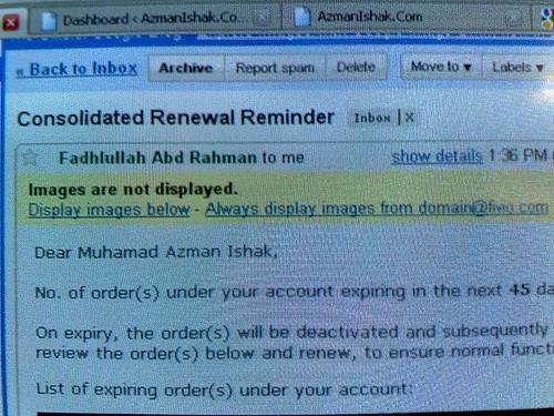 AzmanIshak.Com akan ditutup.
