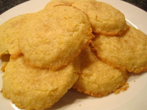 Lemon Cornmeal Shortbread Cookies | Spache the Spatula