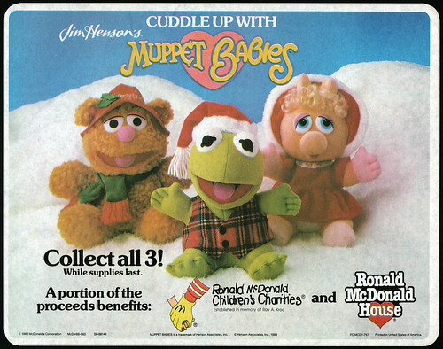 McDonald's Muppet Babies Holiday Huggables Trayliner