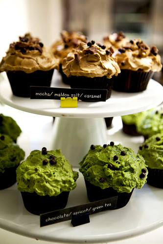 Mocha and Green tea cupcakes