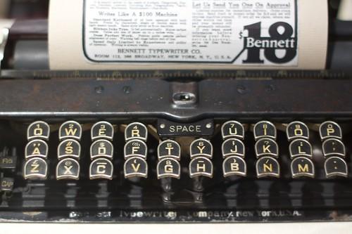 Bennett $18 Typewriter