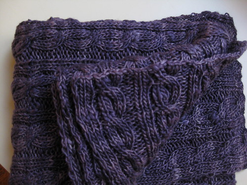 Purple Palindrome scarf